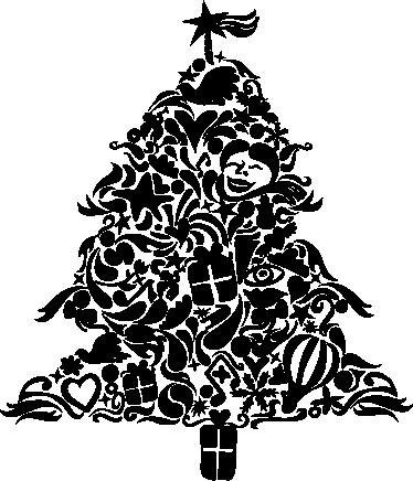 TenStickers. Wandtattoo Weihnachtsbaum mit Motiven. Gestalten Sie Ihre Wände zu Weihnachten mit diesem tollen Aufkleber eines Weihnachtsbaums! Er besteht aus vielen verschiedenen Motiven