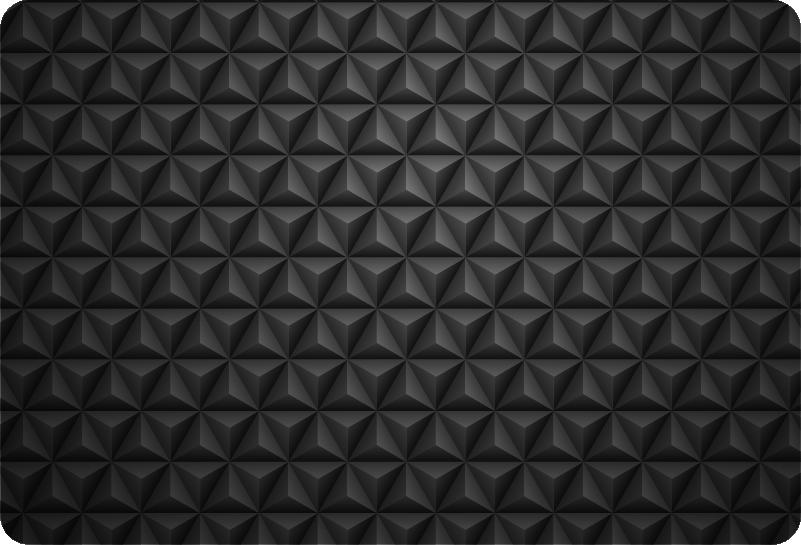 TenStickers. Peau d'ordinateur portable 3d triangles noirs. Autocollant décoratif en sticker pour ordinateur portable avec la conception de formes triangulaires en forme 3d. Facile à appliquer et fabriqué à partir de la meilleure qualité de matériau.
