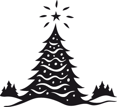 TenStickers. Christmas Tree Landscape Wall Sticker. A beautiful Christmas landscape that is perfect for decorating your home during the festive period. Easy to apply and remove.