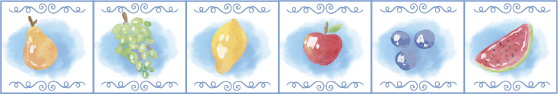 TENSTICKERS. 水に落ちる果物フルーツウォールステッカー. 果物のデザインの装飾的な壁ボーディングステッカー。家のための理想的なデザイン。必要なサイズで簡単に適用できます。
