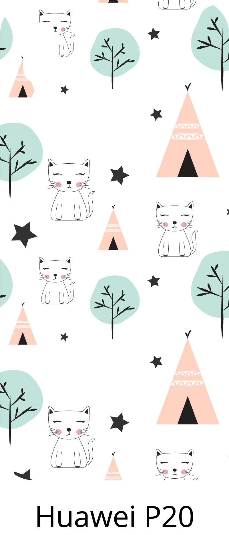 TenStickers. Nordic style (huawei)stiacker. Nordic style pattern huawei sticker for lovers of this type of design. Choose it in the best suitable size. Easy to apply.
