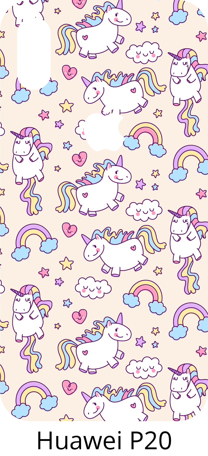 TenStickers. Unicorns Drawings Huawei sticker. The set of several adorable unicorns of this Huawei sticker will bring joy and colours to your phone... or to the phone of your kid !
