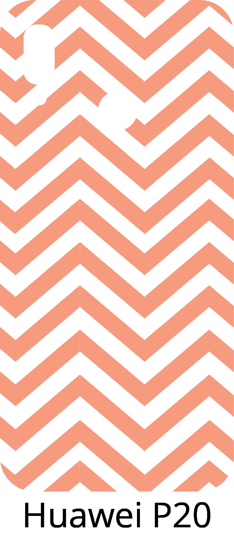 TenStickers. Zic-zac lijnen huawei zelfklevende sticker. Deze huawei-zelfklevende sticker staat voor enkele zic-zac-lijnen in witte en roze kleuren.  Een decoratiesticker die perfect is voor de achterkant van uw huawei mobiele telefoon.