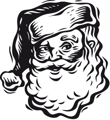 TenStickers. Santa Claus Face Sticker. A decorative sticker of Santa Claus. A fantastic wall decal to give your home a Christmassy atmosphere!