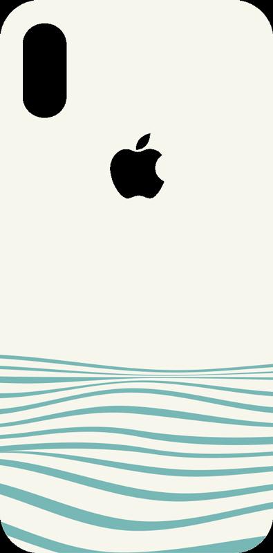TenStickers. Vinil decorativo para iPhone Ondas abstratas. Compre este nosso autocolante decorativo para iphone com o design de ondas abstratas. Fácil de aplicar sem problemas dada a qualidade do material de que é feito.