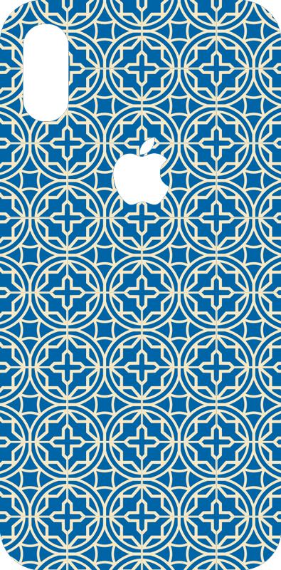 TenStickers. Blue tiles (iphone) iPhone decal. Blue tiles vinyl iPhone sticker to decorate the surface of an iPhone. Buy it in the best suitable size. Easy to apply and self adhesive.