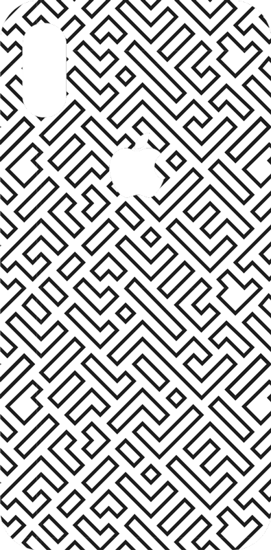 TenStickers. Maze (iphone) iPhone decal. An ornamental maze pattern iPhone vinyl sticker to cover the back surface in style. Easy to apply and very self adhesive.