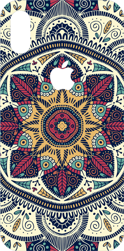 TenStickers. Sticker pour iPhone Mandala. Ce sticker de décor de mandala donnera un aspect abstrait et artistique unique en son genre à votre dos de téléphone portable de marque iPhone !