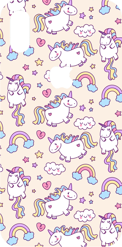 TenStickers. Set of unicorns animal iPhone sticker. The set of several adorable unicorns of this iPhone sticker will fit perfectly any type of iPhone, to give it an original and cute decal.