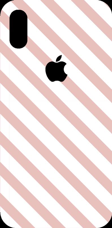 TenVinilo. Vinilo ornamental patrones geométricos rayas. Pegatina para la superficie trasera de tu iPhone formada por un patrón de líneas diagonales rosas y blancas. Precios imbatibles.