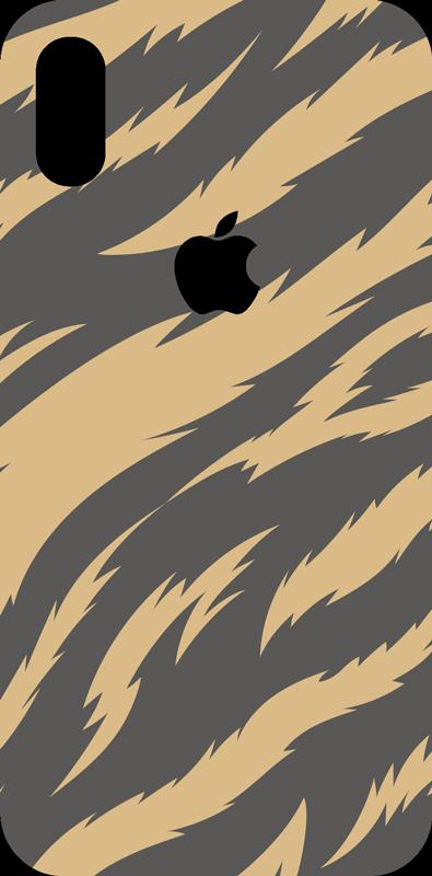 TenStickers. Decor Adhesif Texture Tigre. Représentant des rayures noires et jaunes inspirées de celles des tigres, cet adhésif décor ira à merveille à la coque de votre portable iPhone.