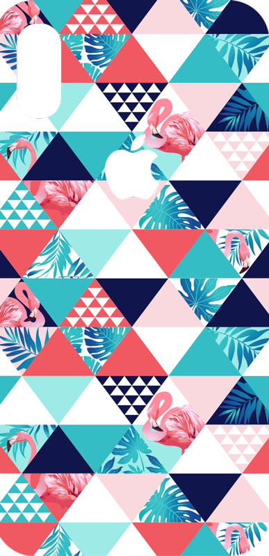 TenStickers. Tropical and flowers Abstract iPhone Sticker. With the arrival of sunny days, the design of this iPhone sticker will bring some colours and some light to your daily life.