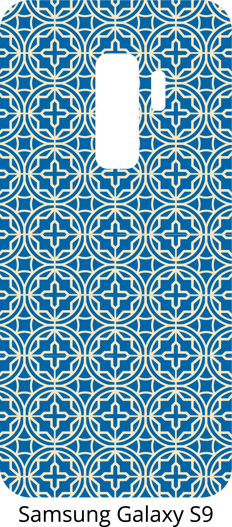 TenStickers. Blue ornaments Phone sticker. Ornamental sticker for Samsung and for smartphones from other manufacturers. Amaze your friends with this original blue phone decal.