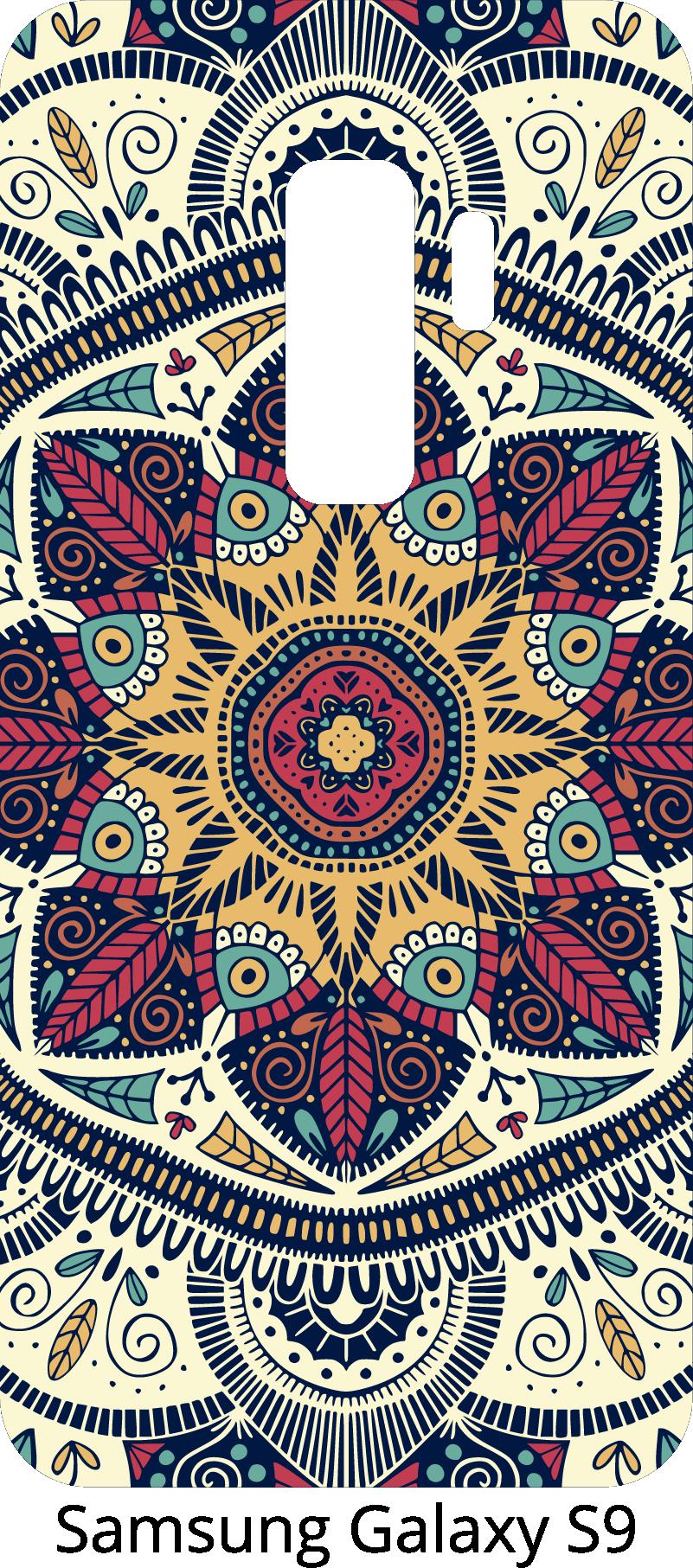 TenStickers. Adesivo com varios desenhos Padrão de mandala. Adesivo de mandala para samsung e para smartphones de outros fabricantes. Surpreenda seus amigos com decalque de telefone mandala original.