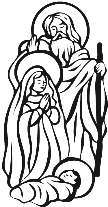 TenStickers. Adesivo de parede Presépio. Um autocolante decorativo de religião que ilustra o nascimento de Jesus. Um belo adesivo de natal para decorar sua sala de estar ou empresa.
