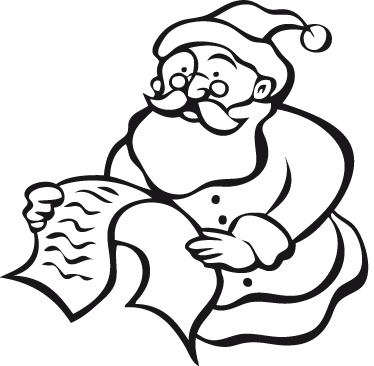 TenStickers. Santa's Letter Sticker. Decorative sticker of Santa reading a kid's letter to him! Perfect decal for the little ones during Christmas.