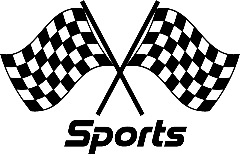 TenStickers. Car Mirrors Sports Car Decal. Decorative car vinyl sticker with the design of a sport flag. Buy it in the suitable size ideal for a surface. Easy to apply.