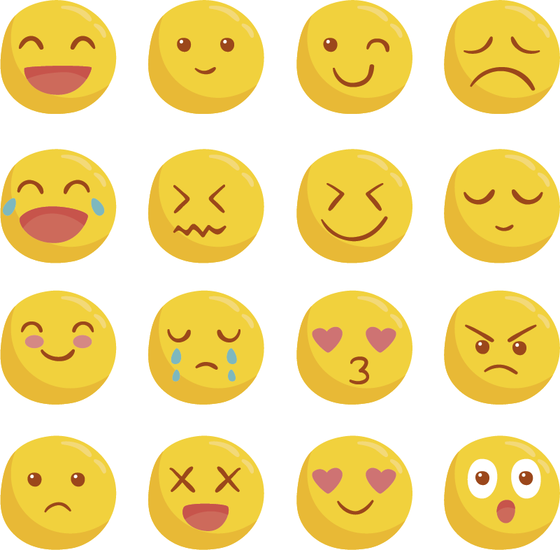 TenStickers. Smiley Face Emoji Stickers. Decorate your books, or just your life, with this fantastic collection of notebook emoji themed stickers! Extremely long-lasting material.
