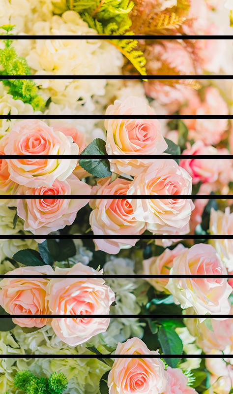 TenStickers. Adesivo casa floreale.. Dai un tocco di colore e primaverile alla tua casa applicando questo adesivo per scale con un motivo floreale con rose rosa!
