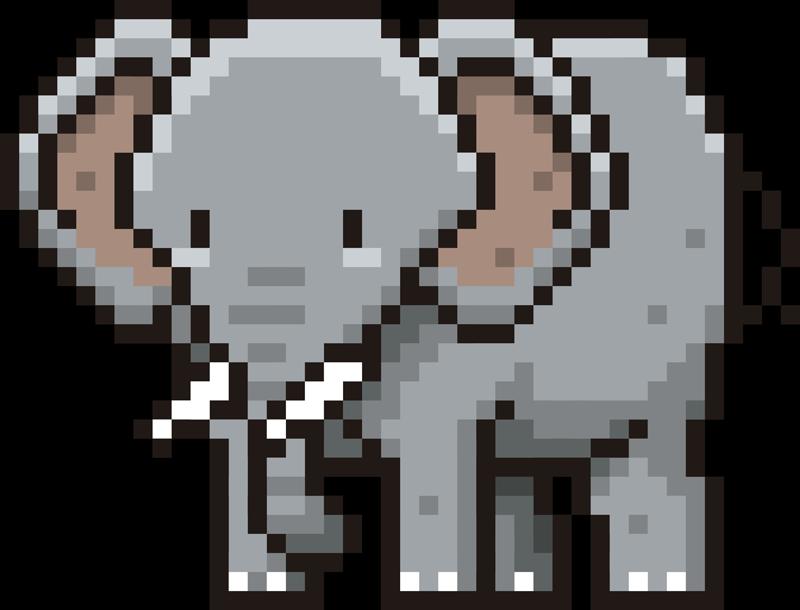 TENSTICKERS. ピクセル象動物の壁の装飾. ピクセルエレファントを購入して、家、就学前、遊び場の壁のスペース、または選択できないスペースを飾ります。最適なサイズでお選びください。
