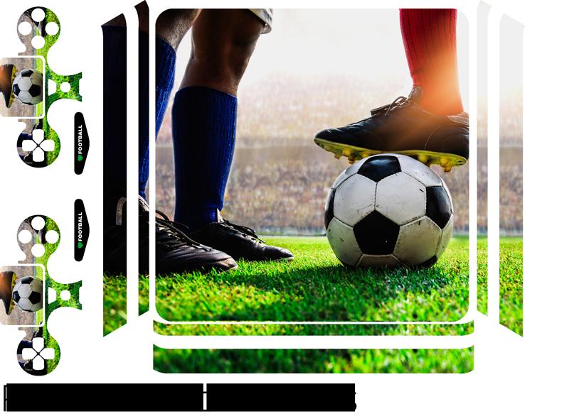 TenStickers. stickerps4 stadio di calcio (ps4 slim). Autoadesivo ps4 dello stadio di football americano di effetto visivo per decorare la superficie. Scegli la dimensione più adatta al modello della tua console di gioco.