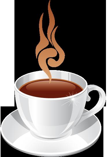 Hot coffee cup kitchen sticker tenstickers
