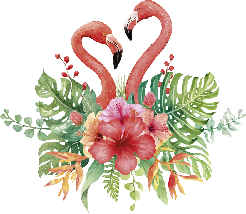 TenStickers. Tropical flamingos Home Wall Sticker. Give you home some extra natural beauty with this tropical flamingo wall sticker. Choose from a wide range of sizes! International delivery!
