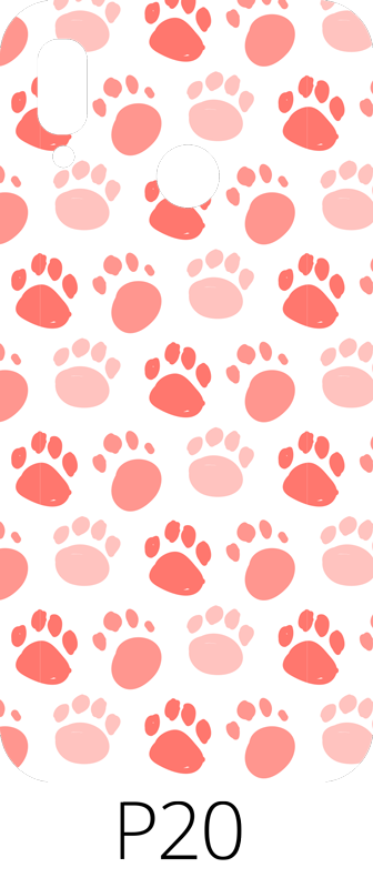 TenStickers. Dog footprint pattern (huawei) sticker. Buy our decorative huawei phone decal to decorate the back surface of your device. Easy to apply and it is available in model categories.