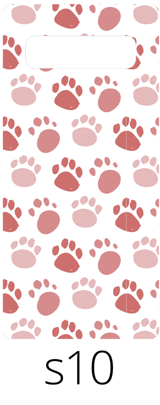 TenStickers. Dog footprint pattern (samsung) sticker. Decorative Samsung phone vinyl sticker with the design of dog footprints in amazing colour. Easy to apply and of very high quality.