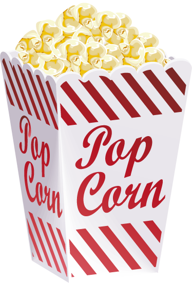 TenStickers. Popcorn Illustration Wall Sticker. Kitchen Wall Stickers - Popcorn illustration ideal for decorating the kitchen, dinning, entertainment room or your business.