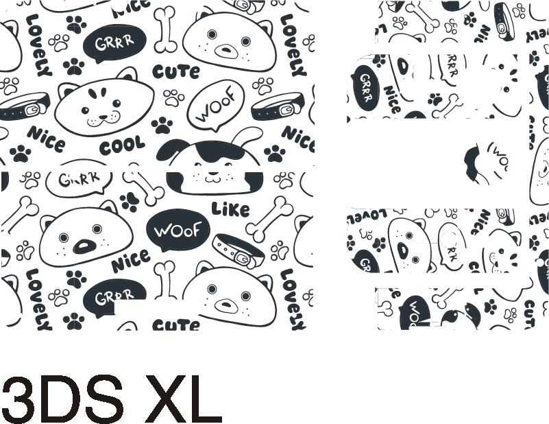 TenStickers. Cuccioli modello nintendo skin. Adesivo decorativo in vinile nintendo con stampa di simpatici cuccioli. Sceglilo nella misura del modello più adatta. Facile da applicare.