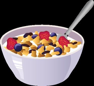 TenStickers. Sticker cuisine bol de céréales. Stickers aux couleurs vives représentant un bol de céréales. Super choix pour apporter une part de gaieté à votre intérieur.Jolie idée déco pour la cuisine.
