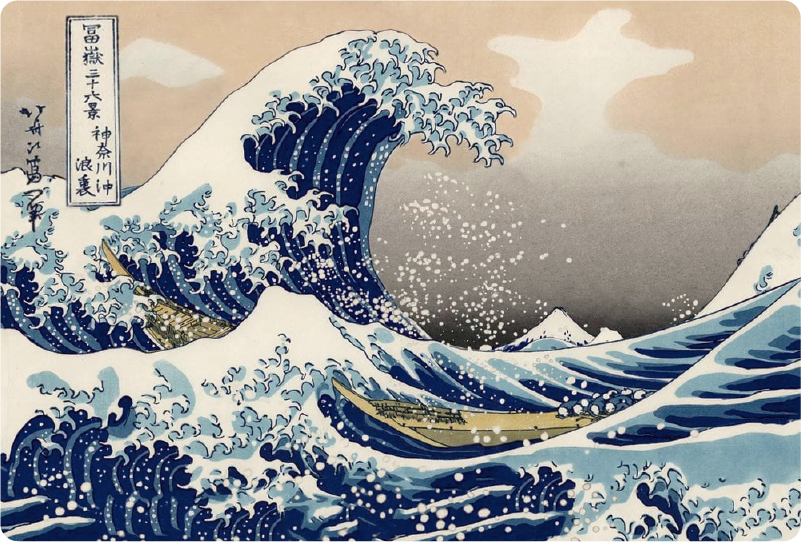 TenStickers. Great Wave Trackpad laptop sticker. Turn your laptop into a work of art with the awesome Great Wave Japanese laptop sticker. Free worldwide delivery available!