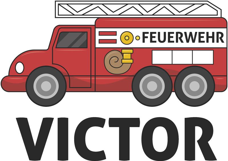 TenStickers. Personalisierter Aufkleber personalisiertes Feuerwehrauto. Möchten Sie einen dekorativen Aufkleber für Ihr Kinderzimmer? Dann schauen Sie sich jetzt dieses Feuerwehrdesign an und verzieren Sie das Kinderzimmer