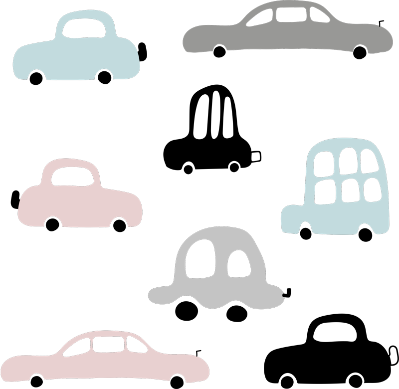 TenStickers. cars set illustration wall art. With this fantastic car illustrations set kids sticker you can now offer to your kids something new and different. Anti-bubble vinyl.