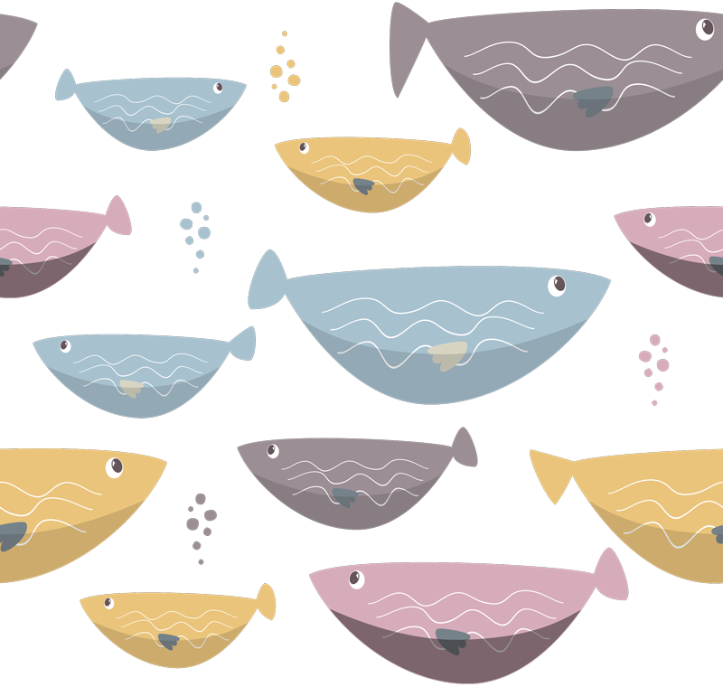 TenStickers. fishes furniture decal. This wonderful fishes furniture sticker is perfect for changing drastically the aspect of your house. Trust the high quality of our vinyl!