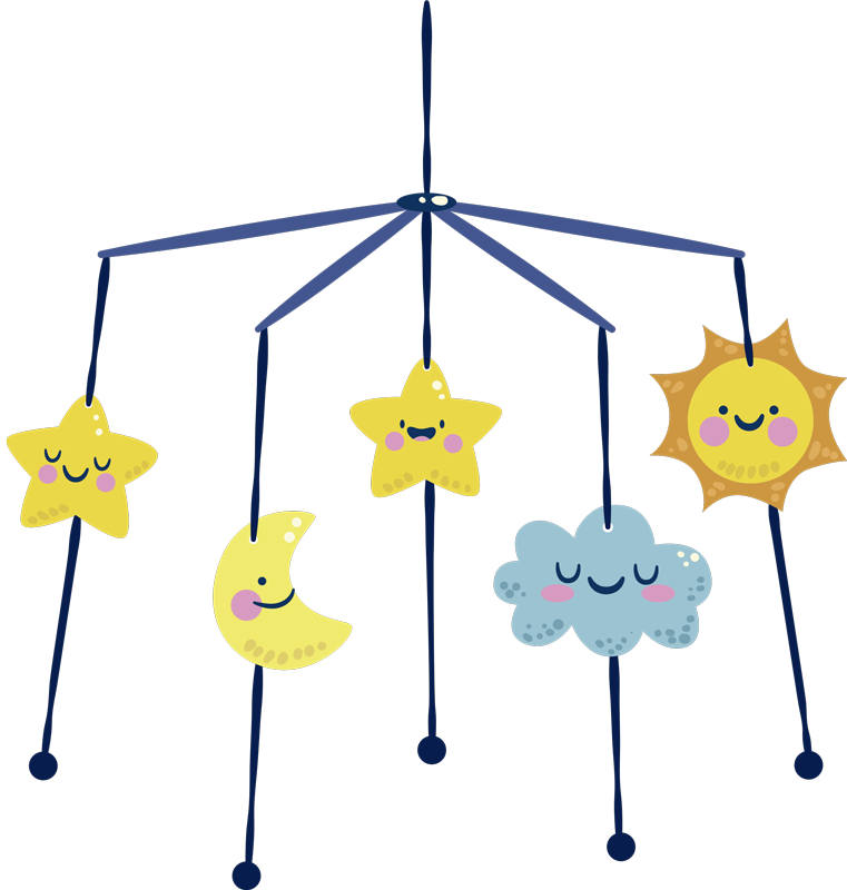 TenStickers. hanger illustration kids sticker. By using this stunning hanger illustration kids sticker  you will be able to transform completely the visual aspect of your kid's room.