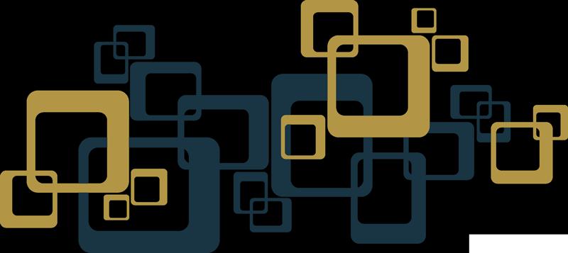 TenStickers. Sticker Maison carrés rétro. Cet autocollant de décor représente plusieurs carrés au style vintage, imbriqués les uns aux autres, pour un effet décoratif inédit.