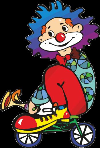 Sticker clown minifiets