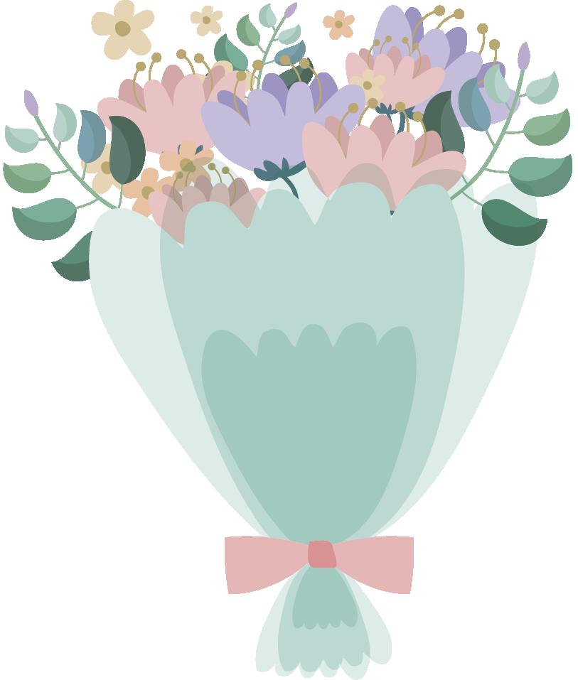 TenStickers. Wandtattoo Blumen Vintage blumen. Geben sie ihrem haus einen hauch von frühling mit unserer wohnzimmerwanddekoration. Es gibt bunte blumen im vintage-stil.