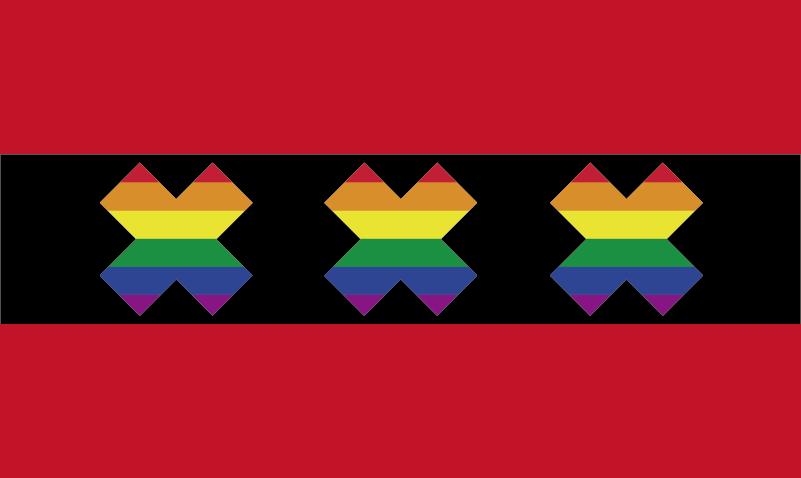 TenStickers. Muurstickers tienerkamer gay pride amsterdam symbool. Versier huis met leuke Gay Pride Amsterdam sticker, of versier uw boot voor tijdens de gay pride botentocht met deze leuke gay pride flag sticker!