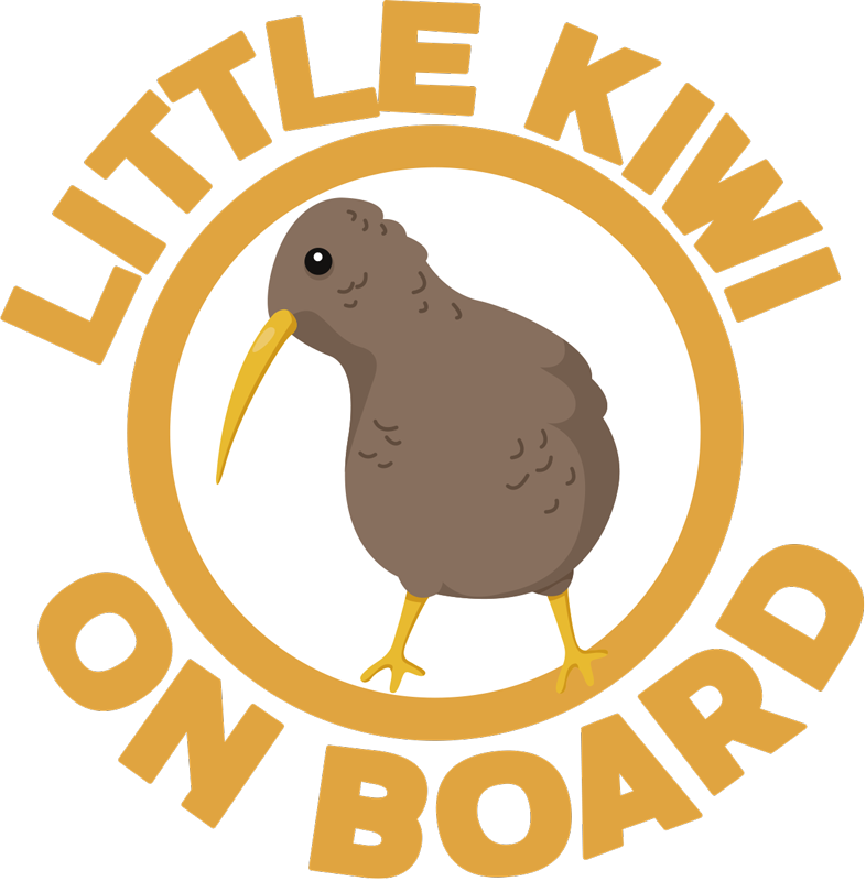 TenStickers. Little Kiwi on Board baby in car sticker. This fantastic ittle Kiwi on Board sticker is the best choice for improving the aspect of your car! It is really easy to apply!