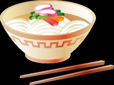 TenStickers. Vinil decorativo taça comida chinesa. Vinil decorativo de un taça de verduras servidas tipicas da gastronomia chinesa e japonesa. Adesivo de parede para decoração de interiores.
