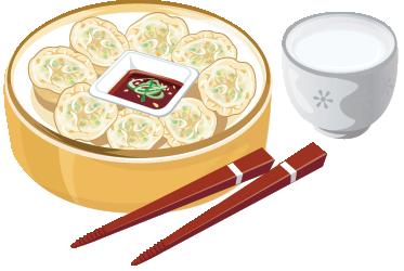 TENSTICKERS. オリエンタルフードデカール. キッチンウォールステッカー-日本料理。アジア風のキッチンの壁、食器棚、家電製品の装飾に最適です。