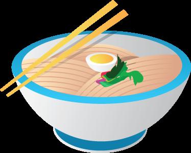 TenStickers. Aziatische eten sticker. Gek op Aziatisch eten? Dan wil je zeker deze muursticker met een kom met Aziatisch eten met stokjes erbij!