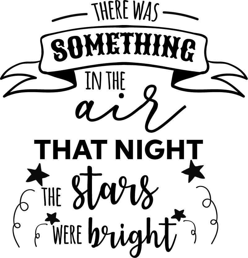 TenStickers. Abba stars song lyric wall sticker. This text vinyl sticker from the Swedish pop group Abba is the perfect wall decal decoration for a teen bedroom or an office