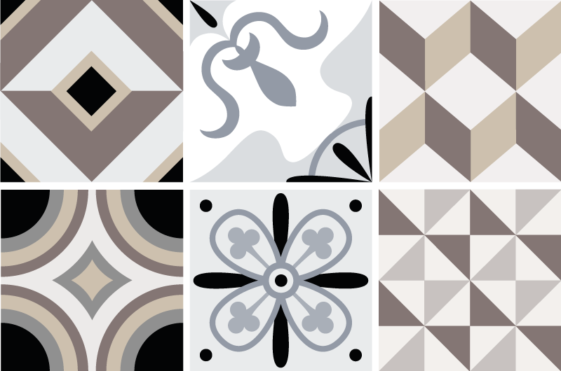 TenStickers. Ornamental patterns Home Wall Sticker. Geometric and ornamental stickers for tiles in bathroom or kitchen. Check our catalog of stickers on tiles and choose something for yourself!