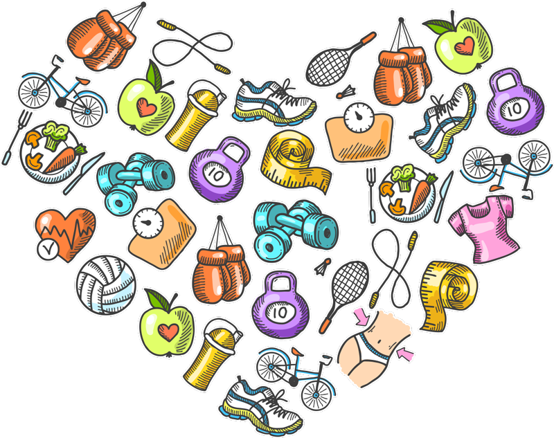TenStickers. Healthy sports heart Drawing Sticker. Give any room in your house some energy with this high quality, sports-themed heart sticker. Choose from a wide range of sizes!