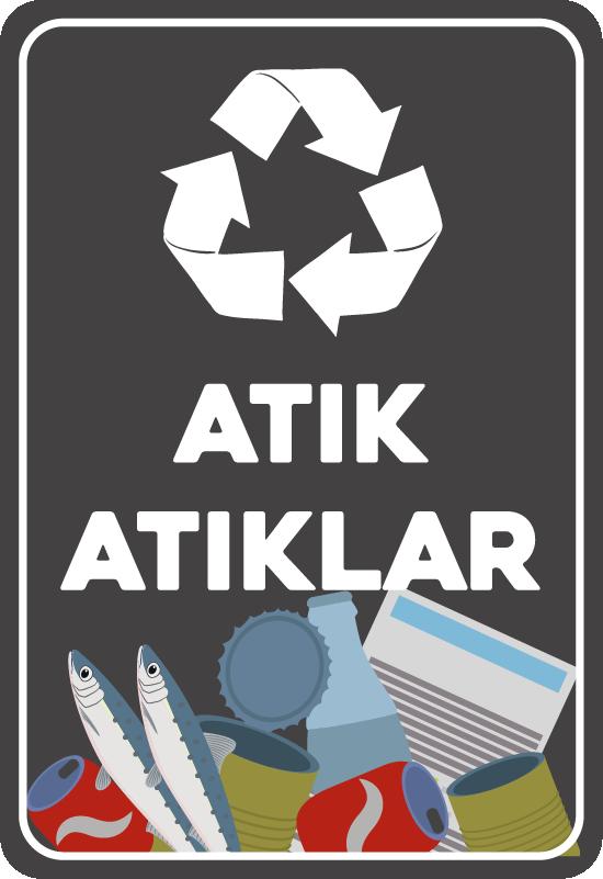 TenStickers. Geri dönüşümlü ev duvar sticker. çevre tehlikede. Topluluğunuzu uyarmak için uyarmak için bu etiketi kullanın. Uygulaması kolay ve kaliteli malzeme.