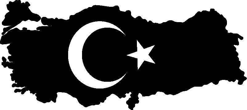 TenStickers. Siluet harita türkiye oturma odası duvar dekoru. Türk bayrağı bu harita etiketi türk gururunu göstermek için oturma odanız veya yatak odanız için ideal duvar